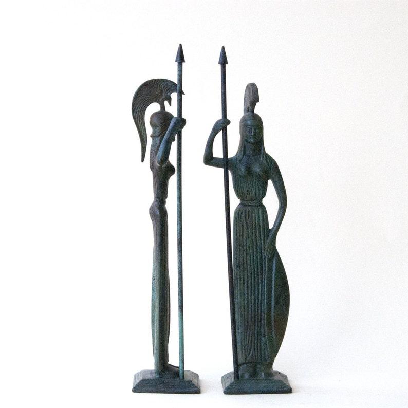 Greek Goddess Athena Bronze Statue Greek Mythology Metal Art Etsy