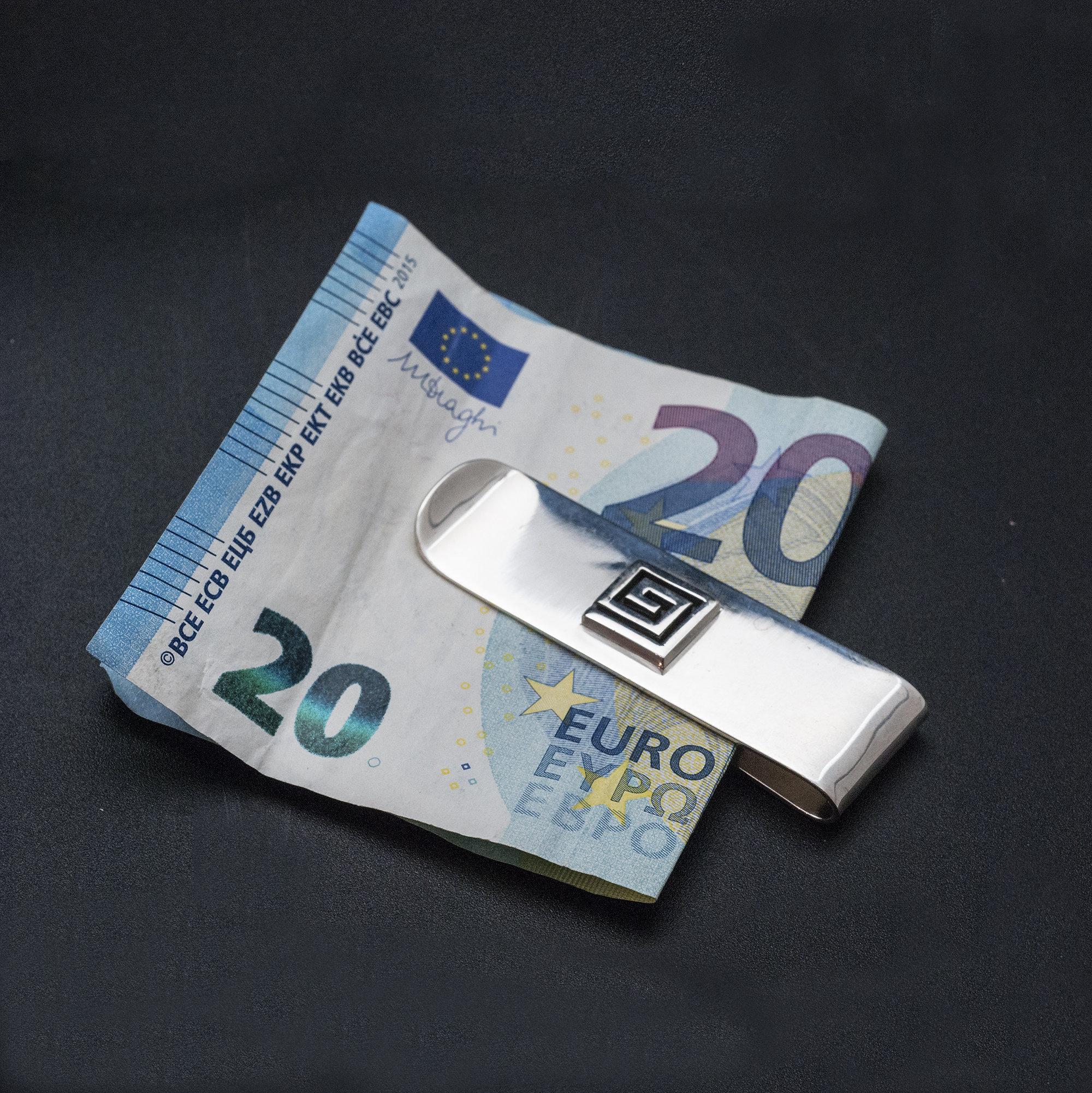 Sterling Silver Money Clip Greek Style Money Clip For Man Money