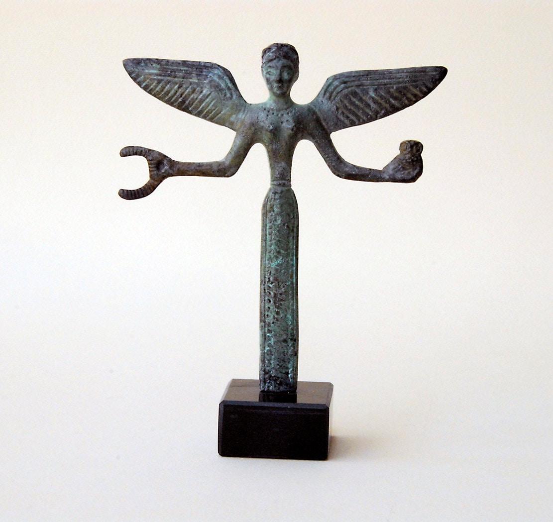 Bronze Statue Of Victory Nike Greek Goddess Of Triumph