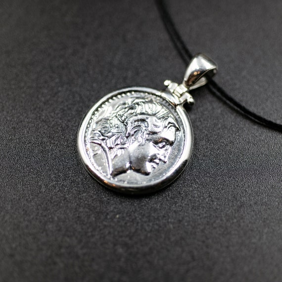 Unisex gift Coin pendant Ancient Greek coin Silver coin pendant Owl coin Sterling silver coin Goddess Athena coin Coin jewelry