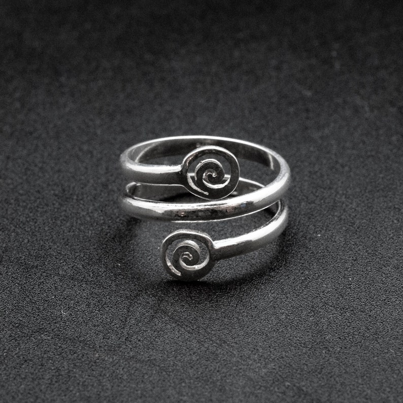 a96dc44fe2025 Greek Sterling Silver Spiral Ring, Handmade Twist Grecian Ring, Men/Women  Greek Jewelry, Symbolic Infinity Statement Ring, Ancient Greece