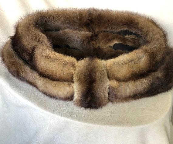 Sable Fur Stole, Capelet, Shrug - 1950s