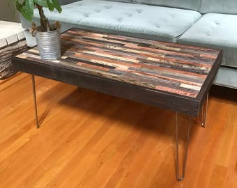 SALE   Various Sizes Of Barnwood Coffee And End Tables   Industrial  Furniture   Modern Reclaimed Wood, Rustic Wood And Vintage Hairpin Legs