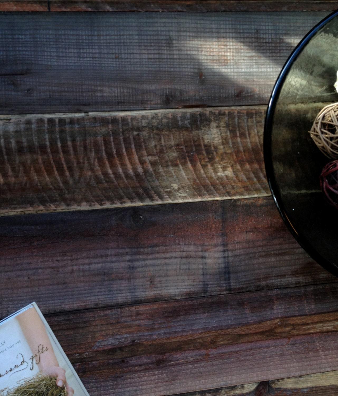 Mid-Century Danish Modern Inspired Contemporary Barn Wood Coffee Table