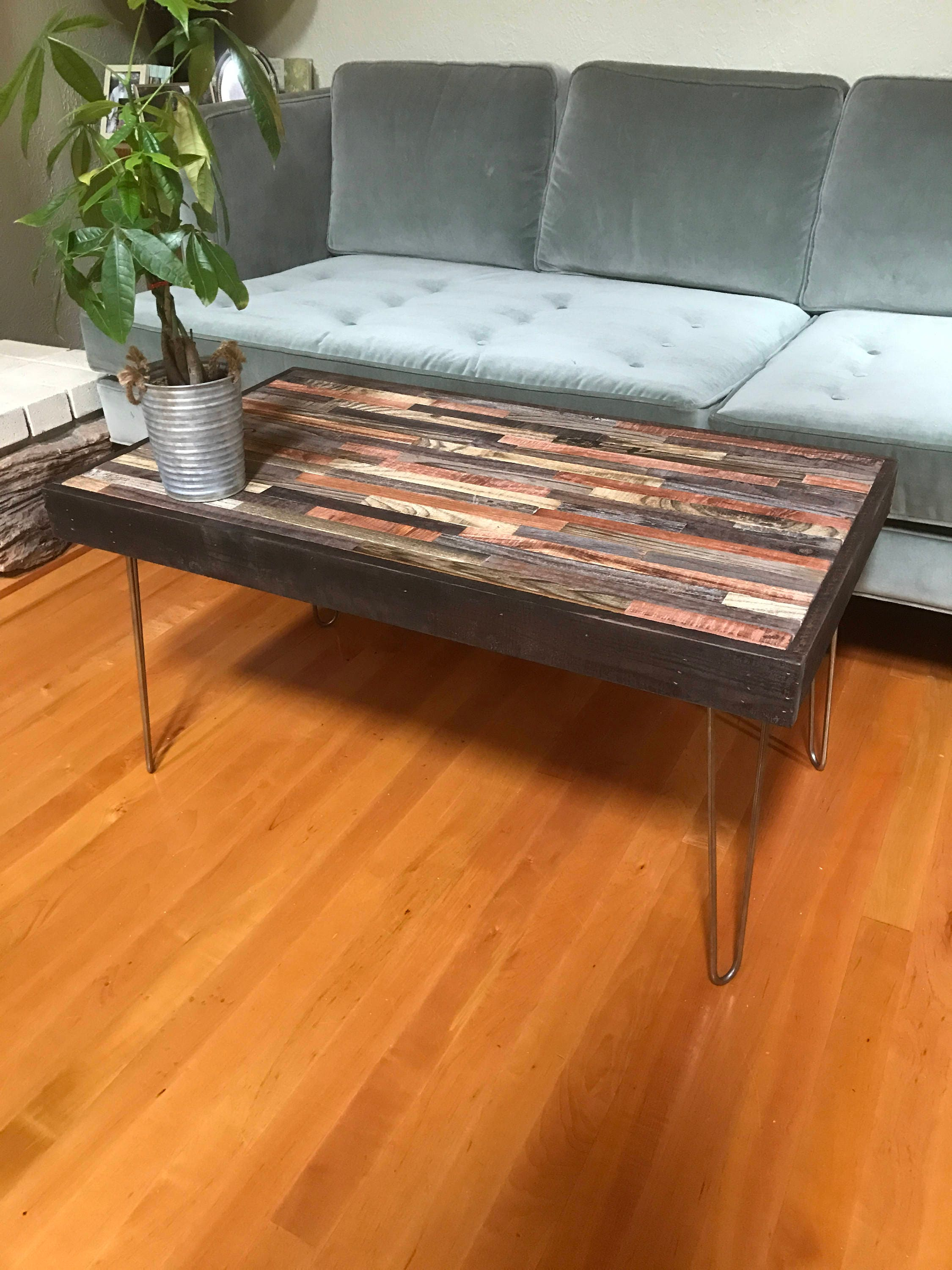 Remarkable Rustic Modern Barnwood Coffee And End Tables Various Sizes Industrial Furniture Modern Reclaimed Wood Rustic Wood And Vintage Hairpin Interior Design Ideas Gentotryabchikinfo