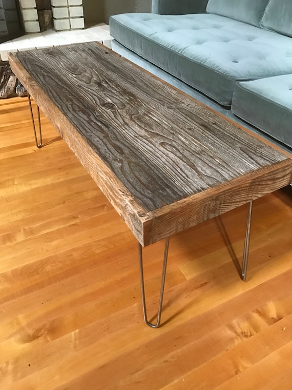 Rustic And Modern Coffee Table Made Of Reclaimed Barn Wood Etsy