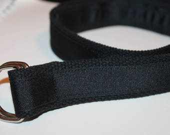 Black Ribbon Belt Black Belt 1.25