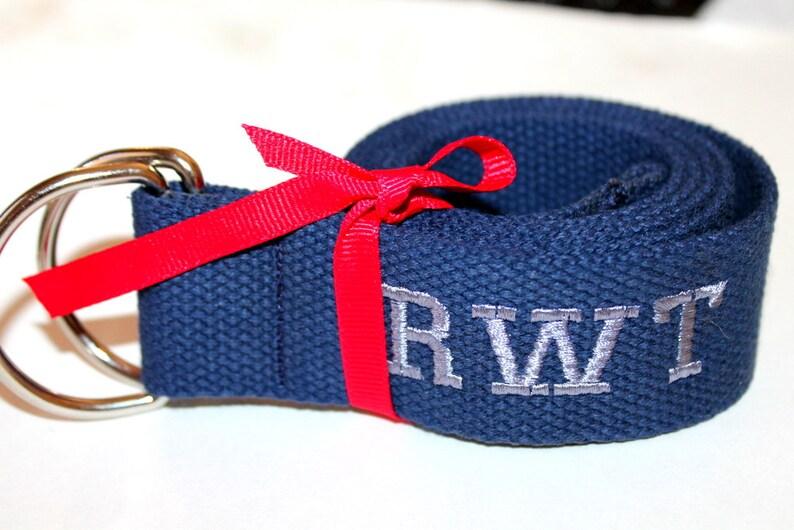 512c3b1cd Wide Navy Webbing Belt Men Women Buckle 1.5 Wide Xl Belt | Etsy