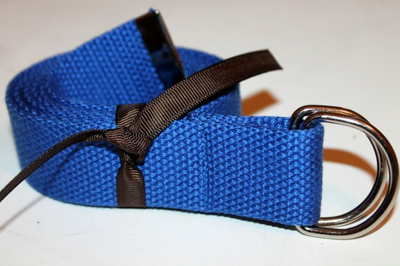 Mens Belt Royal Blue Ladies D Ring 1.25