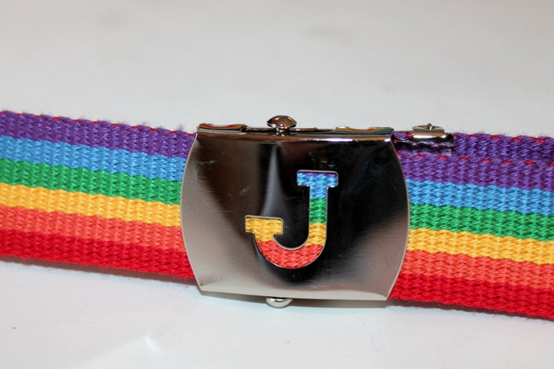 Rainbow Belt Adults Belt Kids Letter Buckle Belt Rainbow Slide Buckle Belt Kids Rainbow Belt Adult Rainbow Belt Letter Belt Extended Sizes