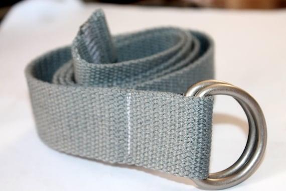 Grey D Ring Belt Gray Webbing Belt Kids Grey Belt Canvas Belt  5610b9010c8