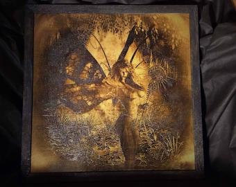 """Lord Mock's """"Blue Fairy"""" Wood Etched Print"""