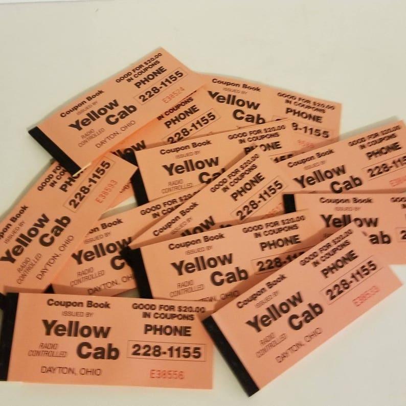 yellow coupon book