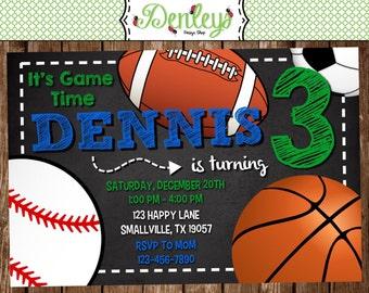 Sports Printable Invitation (SP03)