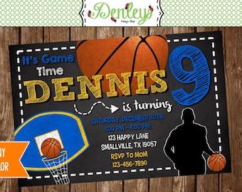 Basketball Printable Invitation (BB09)