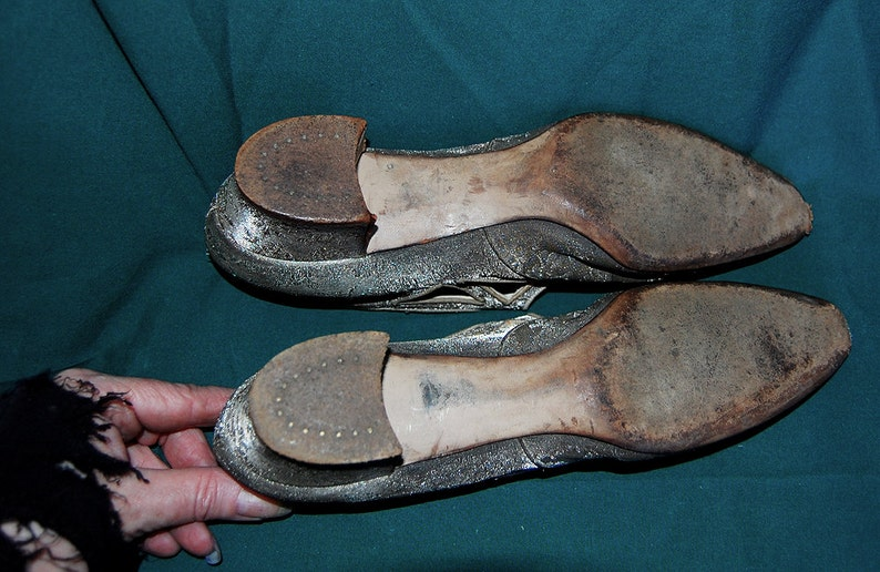 antique silk shoes