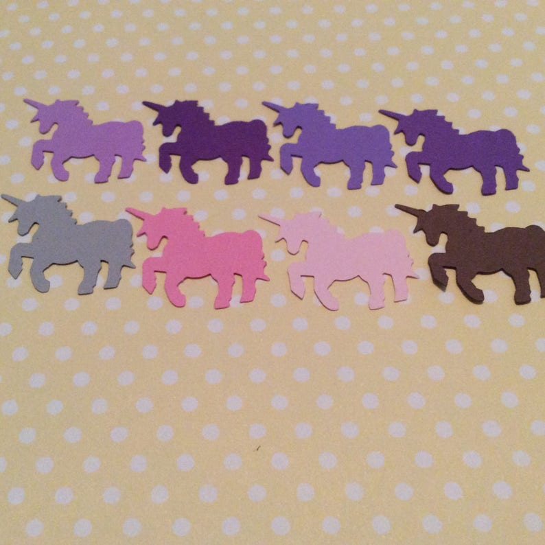 scrap booking 50 colorful UNICORN punches confetti you choose color The unicorns are approximately 1 inch in size. party,hand punched