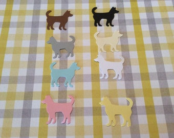50 Hand Punched  DOG punch you choose color Die cuts  1 inch for Confetti, Birthday party decorations,Invitations,scrapbooking,