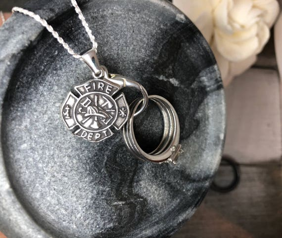 Fire Department Maltese Cross Necklace: Items Similar To AloraLocks Wide Fireman's Maltese Cross
