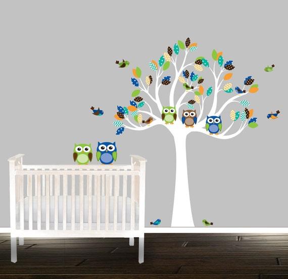 Baby Junge Kinderzimmer Wandtattoo Eule Wand Aufkleber Baum | Etsy