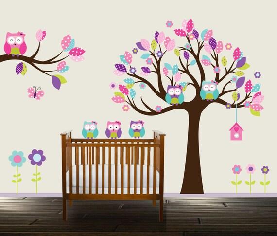 wandtattoo eule kinderzimmer. Black Bedroom Furniture Sets. Home Design Ideas