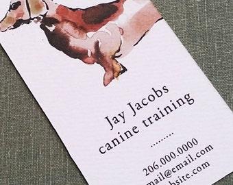 Dog business card etsy dog wakerpet sitterdog trainerdachshund business card business cards set of 50 colourmoves