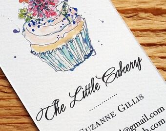 Bakery business card etsy reheart Choice Image