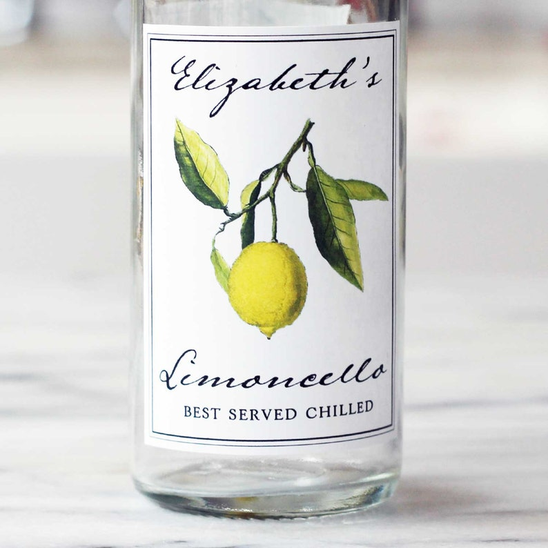 Limoncello Labels Personalized Limoncello LabelsLemoncello image 0