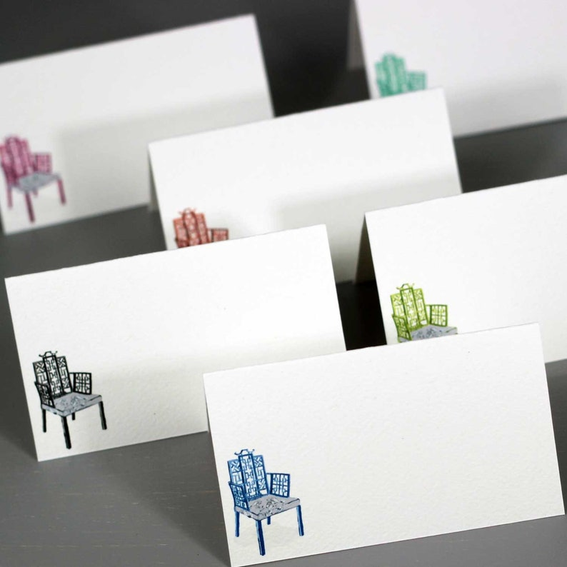 Place Cards with Chinoiserie Theme Assorted Colors image 0