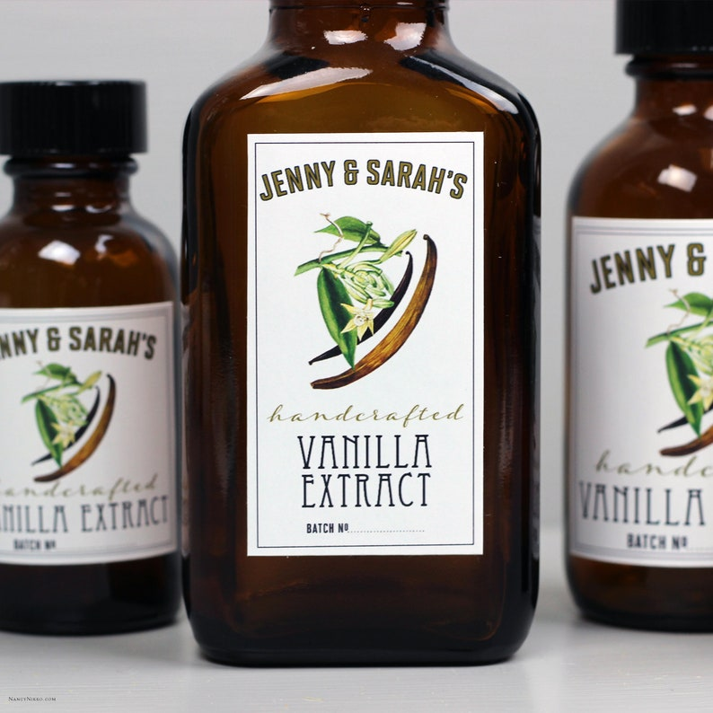 Vanilla Extract Labels or Tags Personalized image 0