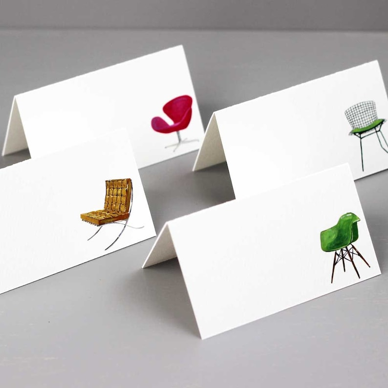 Mid Century Modern Place Cards with iconic design chairs image 0