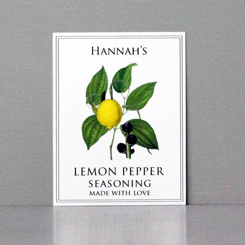 Lemon Pepper Seasoning Lemon Pepper Label or Tag image 0
