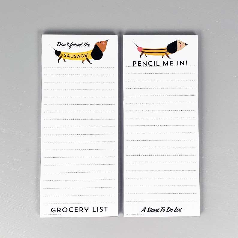 Dachsund Shopping List with Magnetic  BackRefrigerator image 0