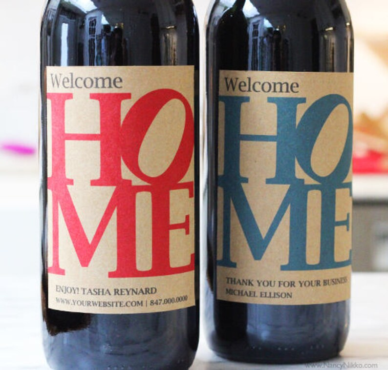Personalized Wine Label for New Home Open HouseReal Estate image 0