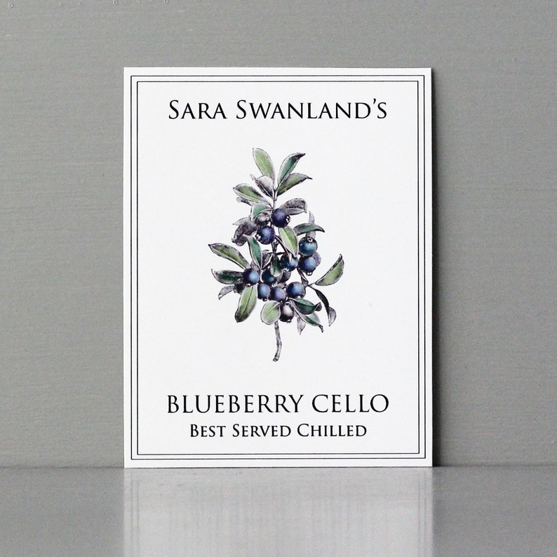 Blueberrycello Label Blueberry Cello LabelBlueberry Labels image 0