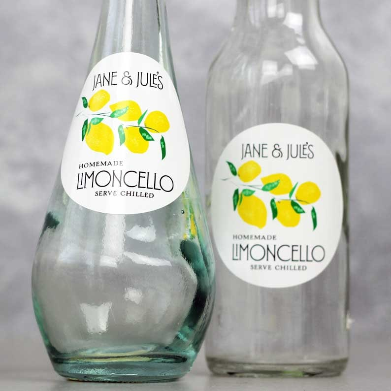 Round Limoncello Labels Lemon Marmalade Stickers image 0