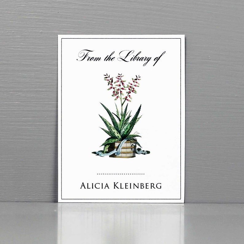 Botanical BookplatePersonalized Bookplate with Botanical image 0