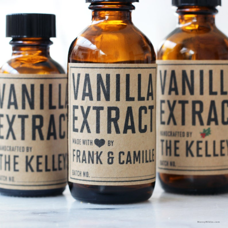 Vanilla Extract Labels Personalized Extract Stickers image 0