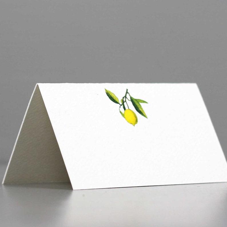 Lemon Place CardsPlace Cards with LemonLimoncello Motif image 0
