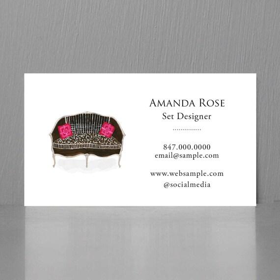 Business Card For Interior Designer Set Designer Business Etsy