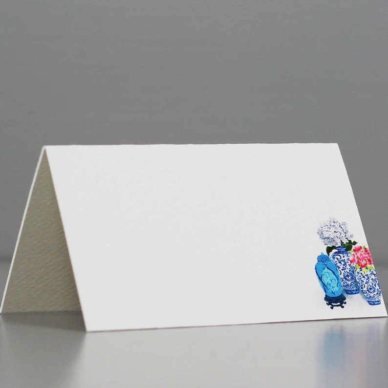 Blue White Ginger Jar Place CardsChinoiserie Place Cards image 0