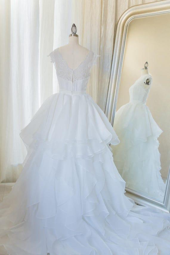 Wedding Skirt Couture Skirt Full Skirt Ruffle Skirt Bridal Etsy