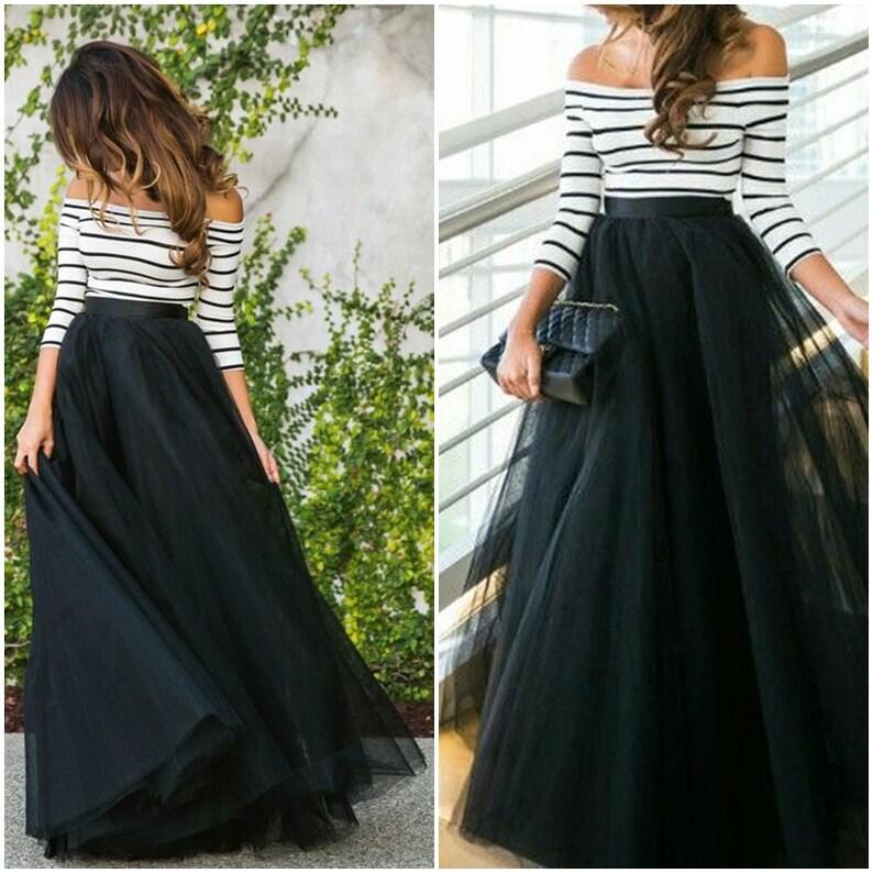 Full Length Floor length Tulle Skirt Extra Full Skirt image 0
