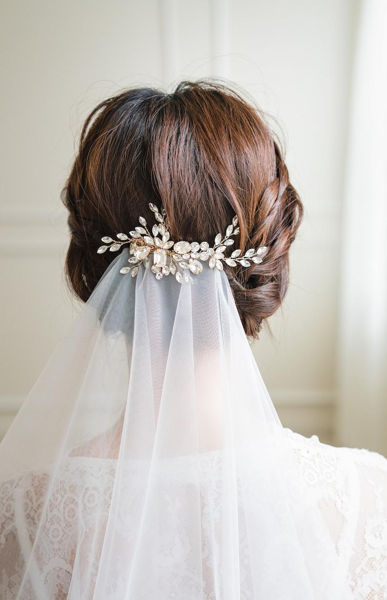 Swarovski crystals Hair Clip   Wedding Hair Pin Bridal image 0