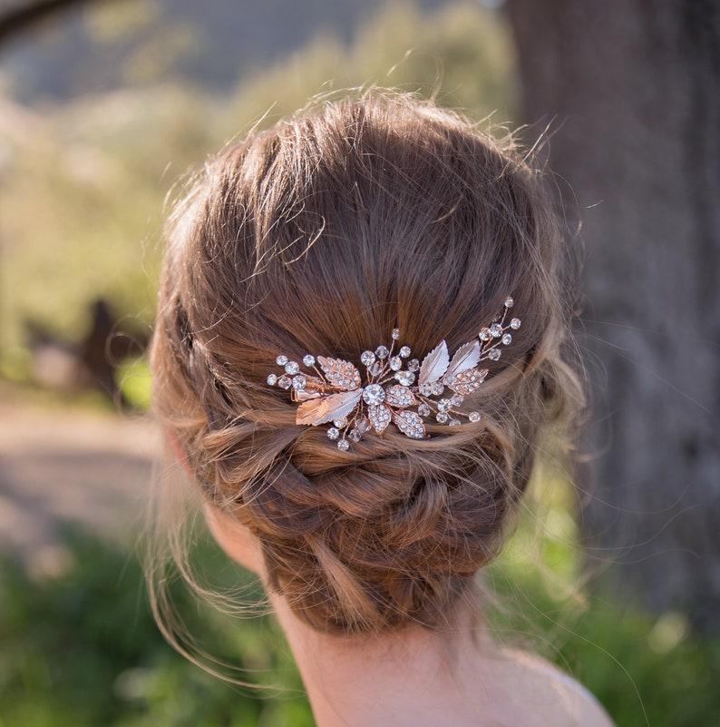 Swarovski crystals Hair Clip   Wedding Hair Comb Crystal image 0