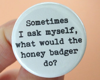 sometimes I ask myself, what would the honey badger  magnet