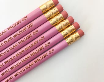 what would blair waldorf do 6 pencils in lavender. stocking stuffers.