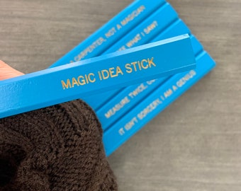 assorted carpentry quotes six navy wood personalized Carpenter pencils. for the woodworker wizard in us all. fathers day