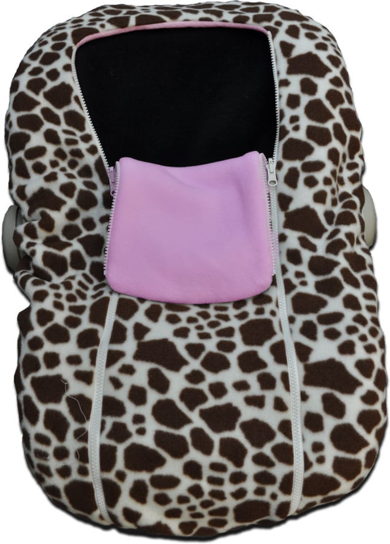 Pleasing Giraffe Print Infant Car Seat Covers Evergreenethics Interior Chair Design Evergreenethicsorg