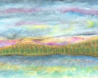 Night Sky - Blue Mt Lake Adirondacks